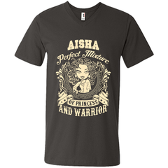 Aisha Perfect Mixture Of Princess And Warrior T Shirts Mens Printed V-Neck T - Family Reunion Tee