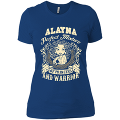 Alayna Perfect Mixture Of Princess And Warrior T Shirts Next Level Ladies Boyfriend Tee - Family Reunion Tee