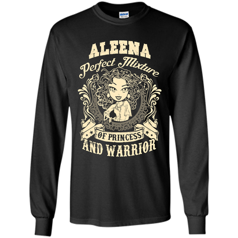 Aleena Perfect Mixture Of Princess And Warrior T Shirts Black / Small LS Ultra Cotton Tshirt - Family Reunion Tee