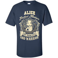 Alice Perfect Mixture Of Princess And Warrior T Shirts Custom Ultra Cotton - Family Reunion Tee