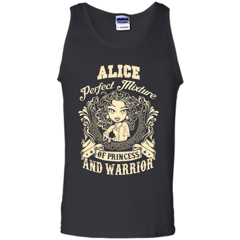 Alice Perfect Mixture Of Princess And Warrior T Shirts Black / Small Tank Top - Family Reunion Tee