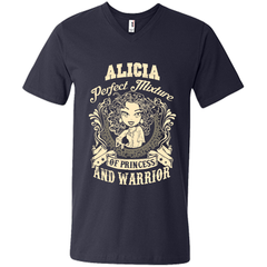 Alicia Perfect Mixture Of Princess And Warrior T Shirts Mens Printed V-Neck T - Family Reunion Tee