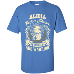 Alicia Perfect Mixture Of Princess And Warrior T Shirts Custom Ultra Cotton - Family Reunion Tee