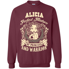 Alicia Perfect Mixture Of Princess And Warrior T Shirts Printed Crewneck Pullover Sweatshirt 8 oz - Family Reunion Tee