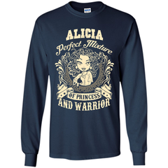 Alicia Perfect Mixture Of Princess And Warrior T Shirts LS Ultra Cotton Tshirt - Family Reunion Tee