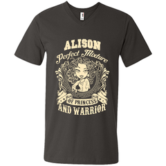 Alison Perfect Mixture Of Princess And Warrior T Shirts Mens Printed V-Neck T - Family Reunion Tee