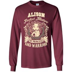 Alison Perfect Mixture Of Princess And Warrior T Shirts LS Ultra Cotton Tshirt - Family Reunion Tee