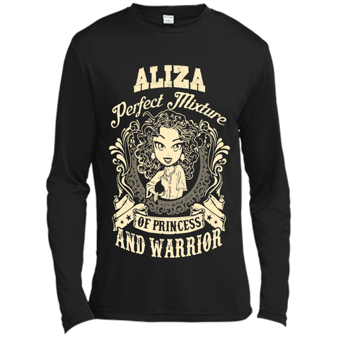 Aliza Perfect Mixture Of Princess And Warrior T Shirts Black / Small Long Sleeve Moisture Absorbing Shirt - Family Reunion Tee