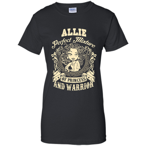 Allie Perfect Mixture Of Princess And Warrior T Shirts Black / Small Ladies Custom - Family Reunion Tee