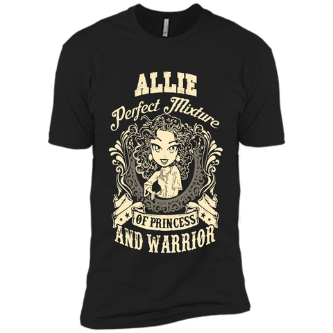 Allie Perfect Mixture Of Princess And Warrior T Shirts Black / Small Next Level Premium Short Sleeve Tee - Family Reunion Tee
