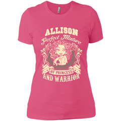 Allison Perfect Mixture Of Princess And Warrior T Shirts Next Level Ladies Boyfriend Tee - Family Reunion Tee