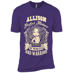Allison Perfect Mixture Of Princess And Warrior T Shirts Next Level Premium Short Sleeve Tee - Family Reunion Tee