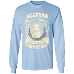 Allyson Perfect Mixture Of Princess And Warrior T Shirts LS Ultra Cotton Tshirt - Family Reunion Tee