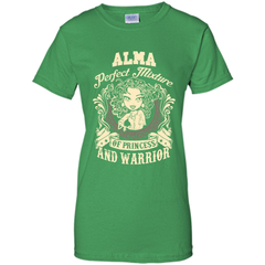 Alma Perfect Mixture Of Princess And Warrior T Shirts Ladies Custom - Family Reunion Tee