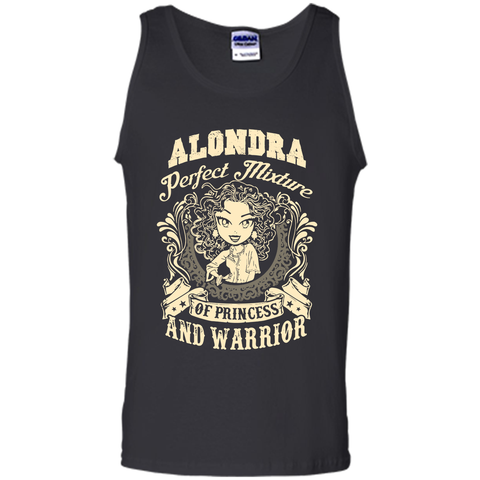 Alondra Perfect Mixture Of Princess And Warrior T Shirts Black / Small Tank Top - Family Reunion Tee