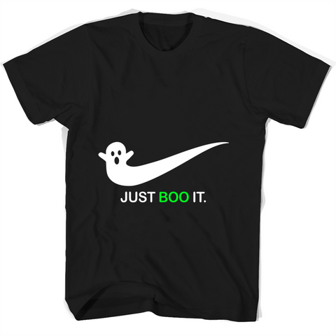 Just Boo It T Shirts Black / Small Round Neck T-Shirt Unisex - Family Reunion Tee