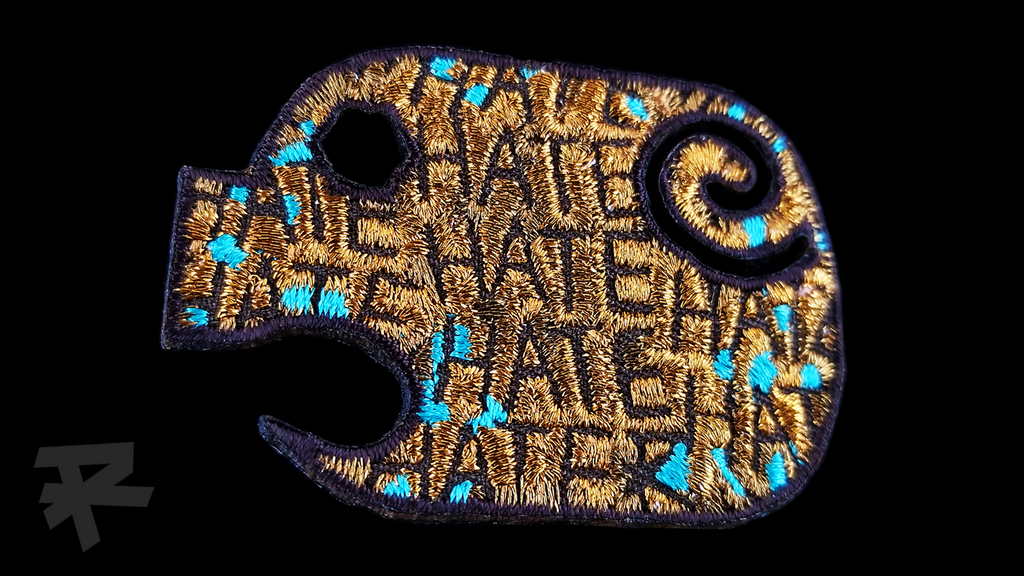 HATE HATER COPPER PIG PATCH