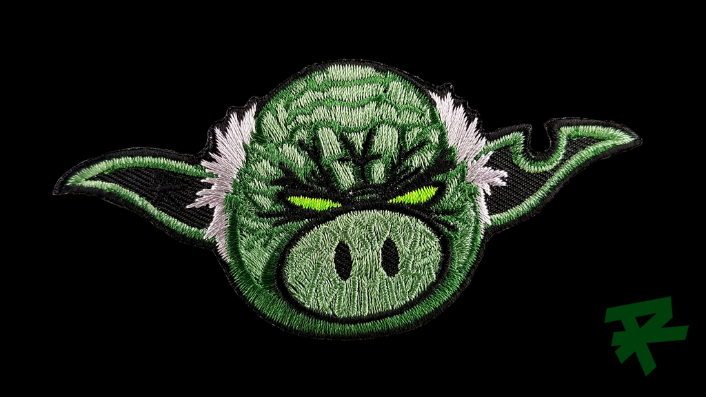 HATE YODA PIG PATCH