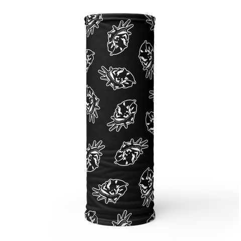 LADY LIBERTY BLACK AND WHITE CHAOS NECK GAITER