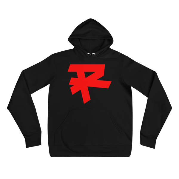 R LOGO (RED) MEDIUM WEIGHT HOODIE