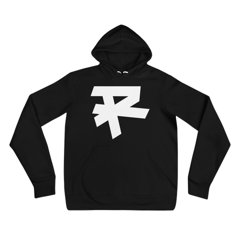 R LOGO (WHITE) MEDIUM WEIGHT HOODIE