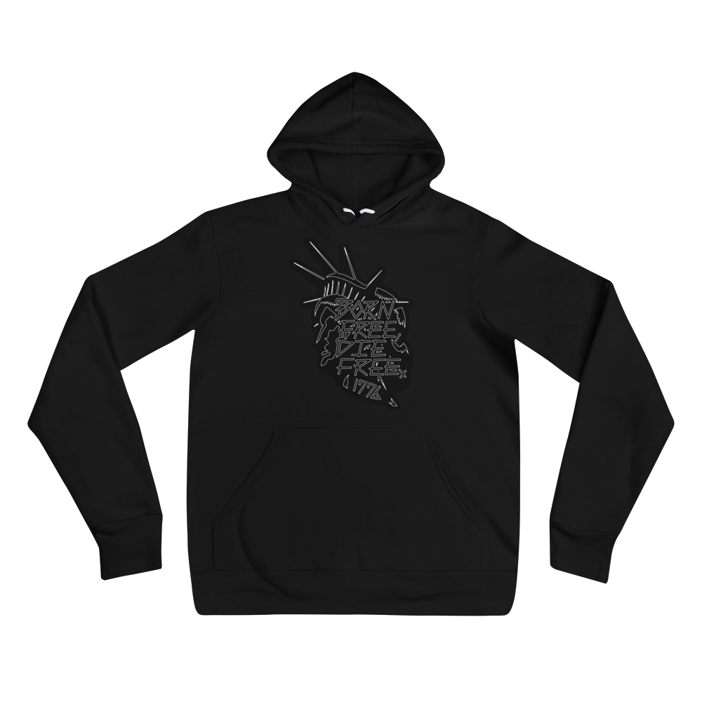 BORN FREE DIE FREE LITE MEDIUM WEIGHT HOODIE