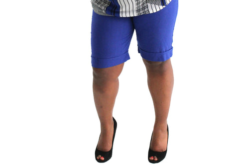 Plus size - Light Weight Linen Career Shorts