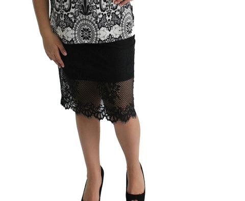 Scalop Lace Skirt - Black
