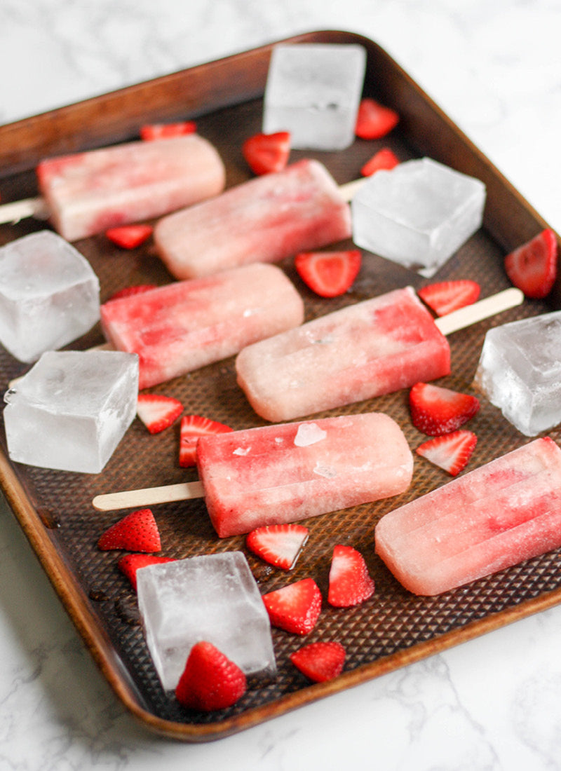 popsicles made with non-alcoholic champagne