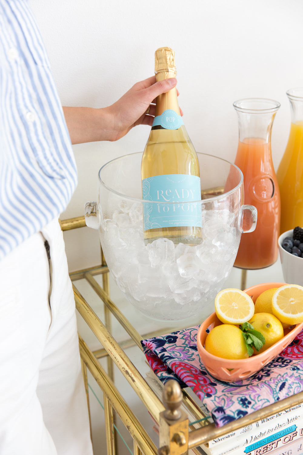 A build-your-own Mimosa bar with Ready to Pop