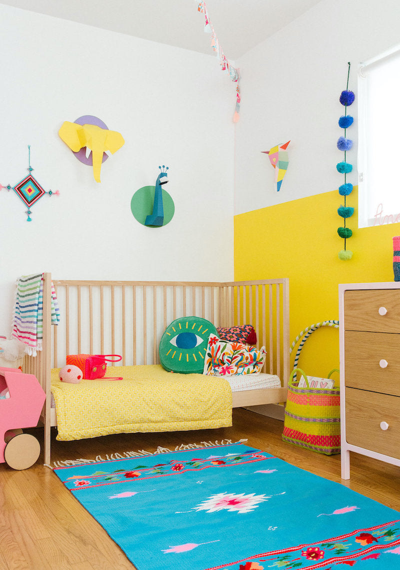 best colorful modern gender neutral nursery nurseries design decor DIY ideas