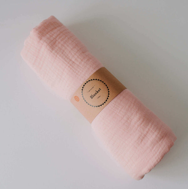 Oohbubs 100% Cotton Blanket - Dusky Pink