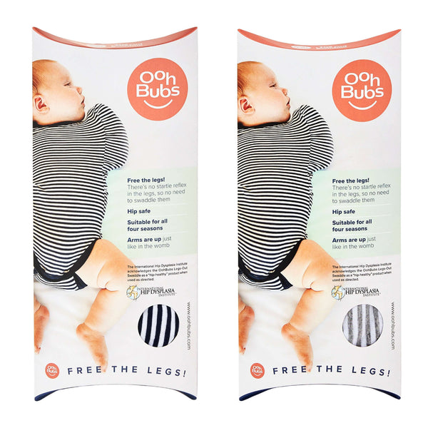 legs out swaddle packaging