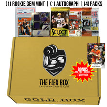 GOLD FLEX BOX (MAY) - 1 ROOKIE GEM MINT, 1 AUTO, 4 PACKS!