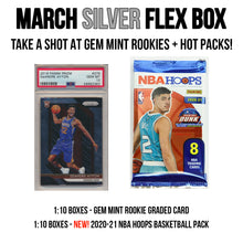 SILVER FLEX BOX BASKETBALL (MARCH) - 1 ROOKIE GRADED + 4 PACKS!