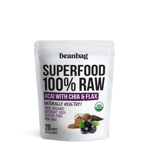 Beanbag - Superfood 100% Raw #Acai With Chia & Flax / 20*5g
