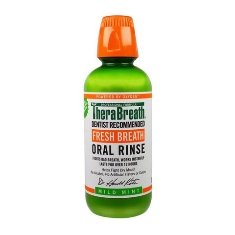 Thera Breath - Fresh breath Oral Rinse Mild Mint (เขียว) / 473ml.