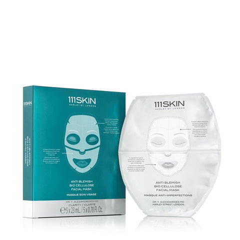 111 Skin - Anti Blemish Bio Cellulose Facial Mask / 5*25ml