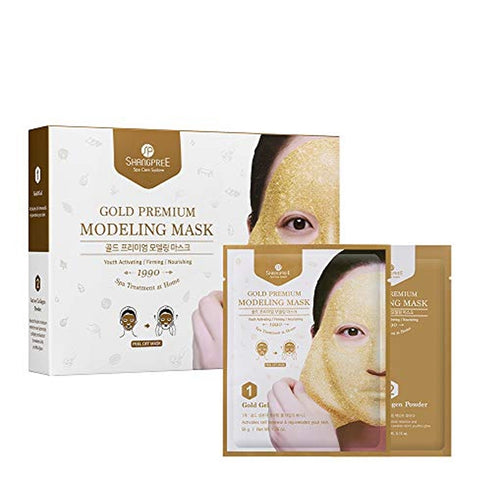 Shangpree - Gold Premium Plus Modeling Mask / 5 Set