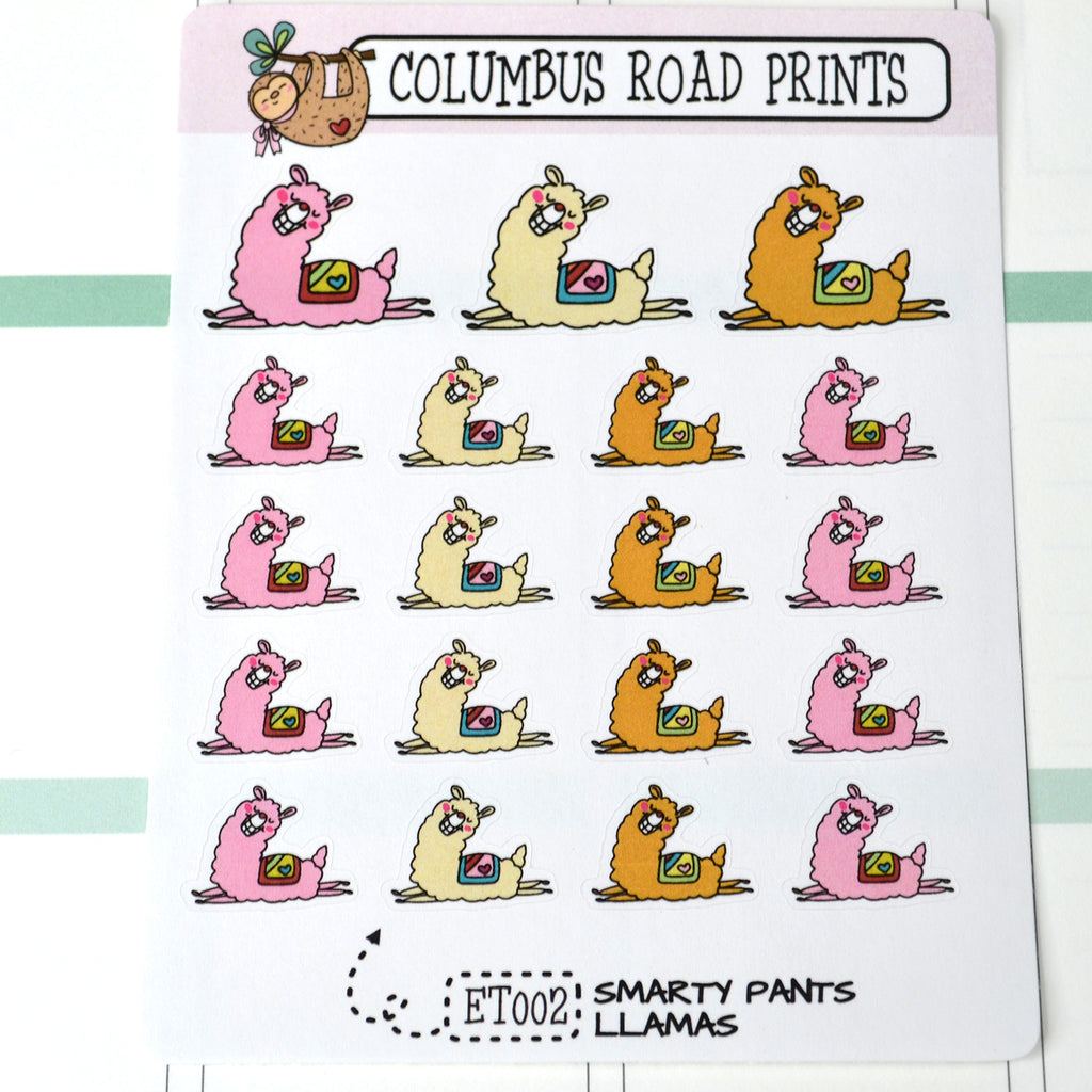 DECO - Smarty Pants Llama - ET02 Planner Stickers