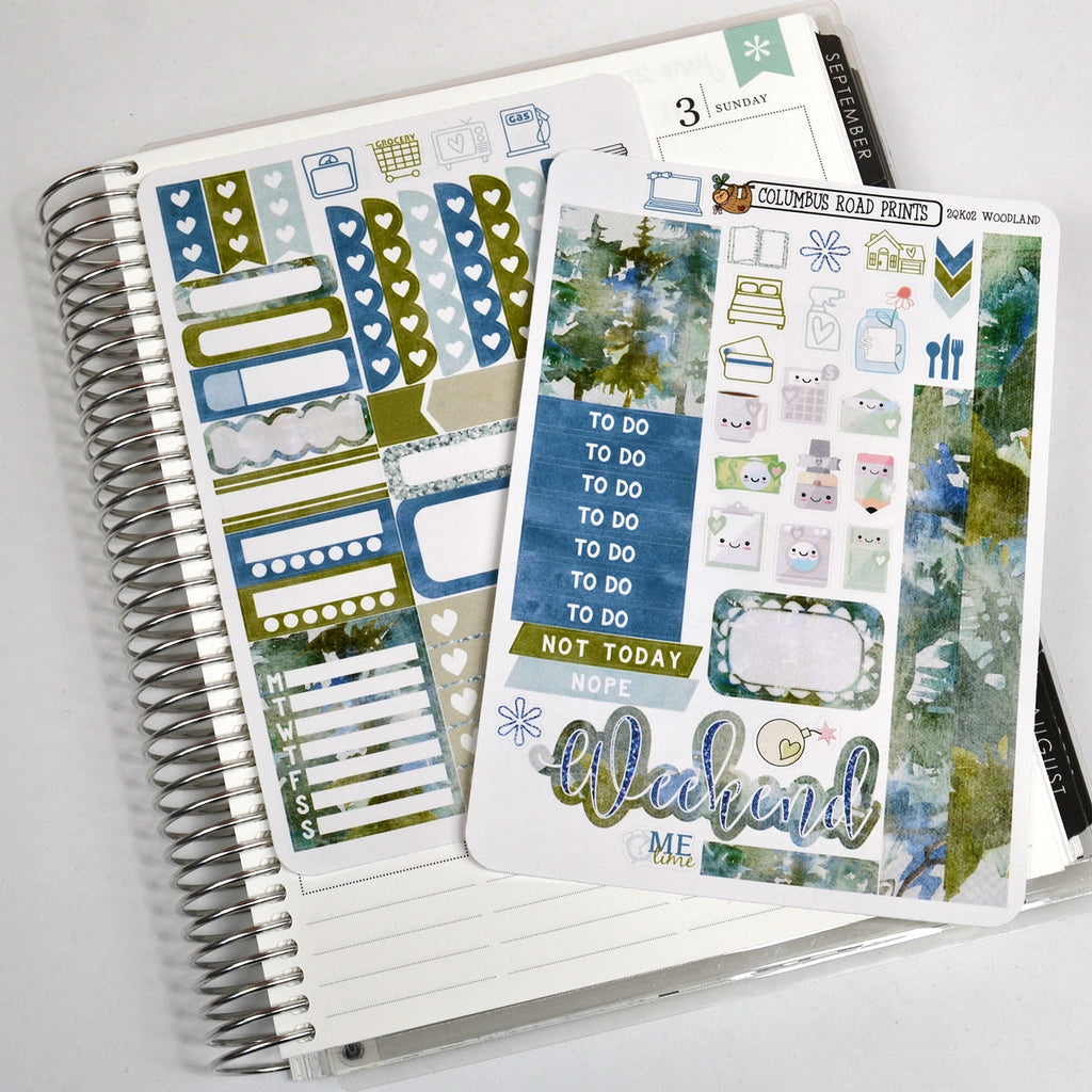 "2 Sheet Quick Kit ""Woodland"" 2QK02 - ColumbusRoadPrints"