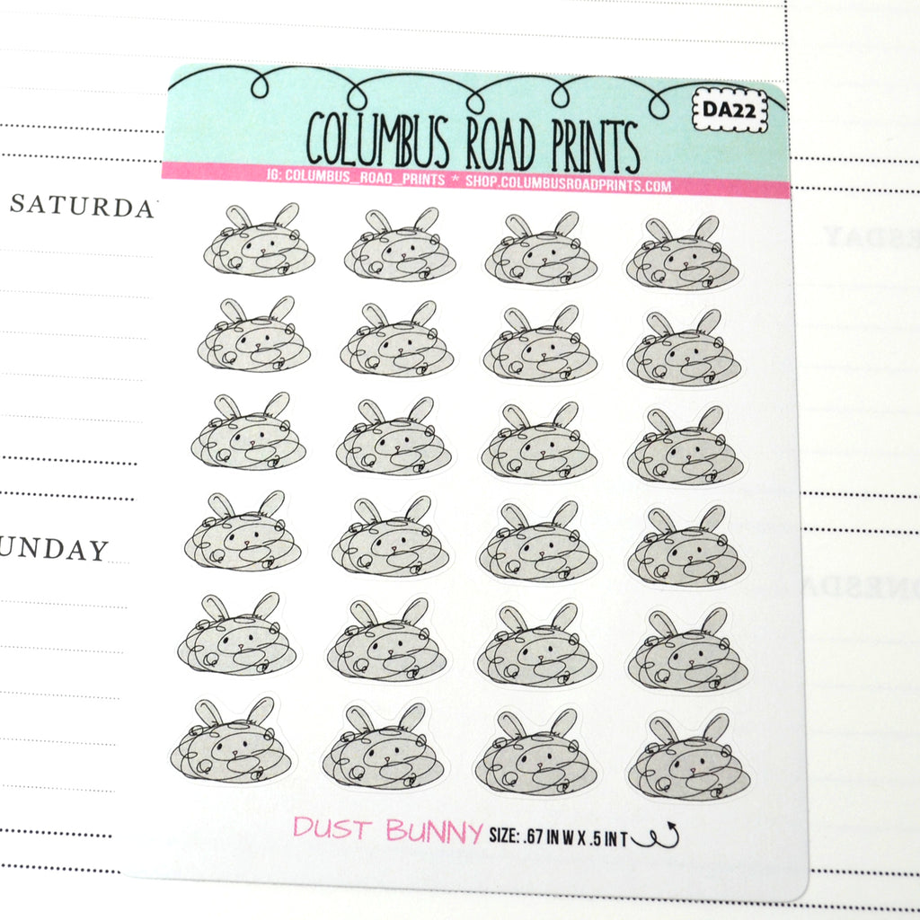 [DA22] DUST BUNNY - DECO - PLANNER STICKERS