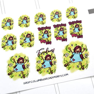 "Planner Girl ""Freedom"" planner stickers, Me Time, decorative planner stickers fits all planners, fits Erin Condren, Personal Planner"