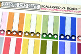 [MC14] Scalloped Design Edge Half Boxes, 1/2 boxes in multicolor