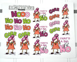 "Humorous stickers, ""Angry Girl"", Planner Girl, Mad girl, No Girl, planner stickers fits all planners"