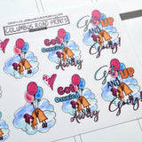 "Planner Girl ""Get up and going"" planner stickers, decorative planner stickers fits all planners, fits Erin Condren, Personal Planner"