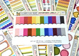 [MC09] Appointment Labels, 1/4 box multicolor labels