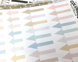 "Arrow Planner Stickers ""Neutral Chic"", fits Erin Condren Vertical Life Planner, Full Box and Half Box Arrows, Neutral Planner Stickers  Ask a question"