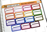 [SC007] Half Box Assignment planner stickers, half boxes