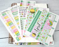 CALENDAR KIT -- Easter Sweetness -- April 2019 Collection, monthly calendar page kit fits EC Life Planner 7x9, April Calendar Kit